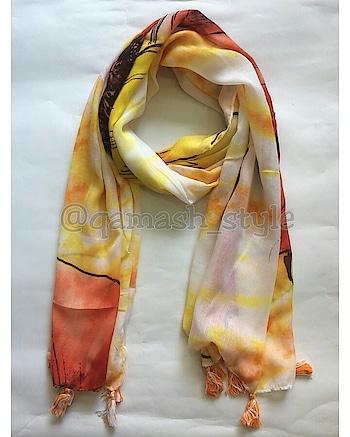 Summers❤ Product Details: Scarf with tassels  Size: 70 X 170cms + tassels  Fabric: Trendy Poly Cotton  DM for enquiry!❤  #qamash #qamashstyle #simplicityiselegant #simplicityisbeauty #scarf #scarflove #scarfmakesthedifference #scarfstories #scarfstyles #summer #summer-style #summer fashion   #summerlove #summerlook #summeressentials #loveit #buyitnow #buyonline #scarflovers #funfashion #comfyfashion #musthave #musthaveit #wearyourfashion #fashionista #fashionbabe