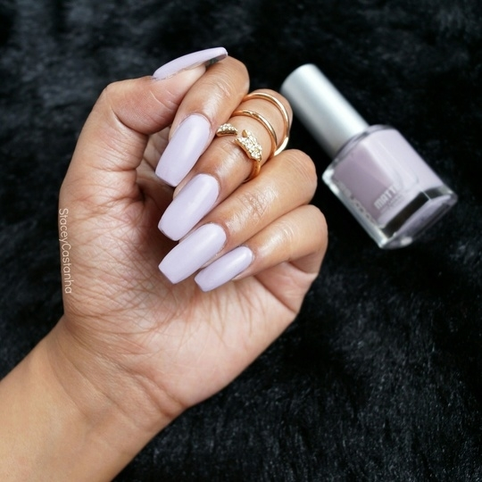 In love with this shade!! This is the @colorbar Matte Nail Polish in Sweet Lilac 😍😍😍  #nails #nailsoftheday #nailpolishaddict #nailpolish #lilac #matte #mattenails #longnails #acrylicnails #colorbar  #manicure