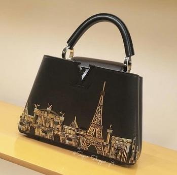 Parisian beauty #louisvuitton #luxury #handbag #eiffeltower #print #trendy #stylishbags #newcollection