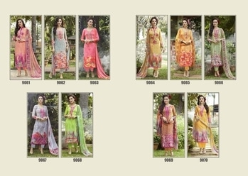We are launching our new catalogue on lawn with print  with variety of colour and ethnic designer prints with work catalogue name   ZOHRA VOL - 21  👗top - 3.2 meter lawn with work  👖Bottom - 2.75 meter cambric  🇦🇹Duppata - 2.25 meter pure   Series - 9061 to 9070  Rate:-1095/-   Dispatch on 3⃣0⃣ May 2⃣0⃣1⃣7⃣  Hurry up.....🏃🏃🏃🏃  ** Set to set ** Book your order #ethnicwear