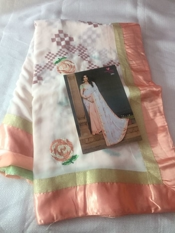 *Wow Collection*  *Georgette Designer Embroided Sarees With Satin Border And Beautiful Heavy Designer Blouse*  *Singles @ Rs. 1750+$ Each. Shipping Free*  For Full Set, Plz Contact In Personal. *cg8# 09793917470