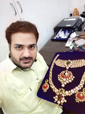Heavy #bridal-jewellery kundan meena with Dimond polki any queries contact Whatsapp 8607714800  #bridaljewellerydiamonpolki