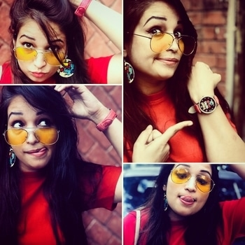 #yellow #shadeslover #reddress #redwatch #perfect #combo #fashionita #stylo #roposo-fashiondiaries #ropo-style #ropo-good #ropo-love