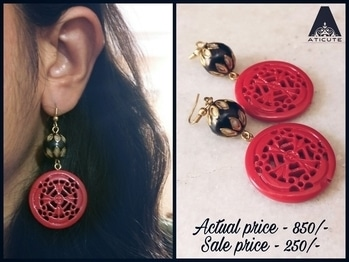 To shop this beauty WhatsApp 9176481987. #aticute #jewelrybypreetigupta #fashion #chennai #sale #clearancesale #newcollection #earrings.  P. S. -  Sale ends by January 31st 2017.