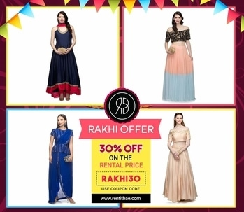 Make yourself feel #Special with the #Amazing Range of #Extraordindary #RakhiCollection, made available by Rent It BAE from the Top Most #Designers in the Country... Grab the #latestDeals now only at https://goo.gl/zR59ce! All your Favorite Colors are available at Just a Touch of a Button.. Raunika's Couture Naisha's creation Komalcollection Use the Coupon Code: RAKHI30 now!  #fashion #ethnicwear #rakhispecial #ethnicdesignerwear #designerwear #latestfashion #style #styleitup #designs #latestdesigns #rakhitime #festiveseason #festivewear