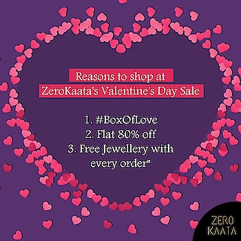 A Perfect Valentine Gift . . . ZEROKAATA's #BoxOfLove . Make Your Someone Feel Special With This Never Before #BoxOfLove . . . A Special #BoxOfLove that contains an awesome mix of jewelry and cosmetics . . Also our  Valentines Day Sale Start's From 21st of January. . Get Flat 80%off Across Website and A Free Jewelry With Every Purchase . Sign In Now on www.zerokaata.com . . #Love #valentinesale #sale #BoxOfLove #perfectgift #shoppingonline #onlinesale #onlineshopping #greatindiansale #valentine2019 #RepublicDaySale #biggestjewelrysale #jewelrysale