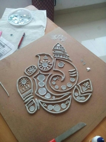warli craft. vote me in art and craft category.. #tribalart #roposotalenthunt