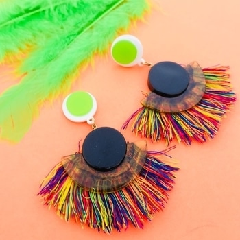 Be a Peacock in a Flock of Pigeons! http://theredbox.co.in/en/product/neon-mutlicolour-tassel-earrings/ . . . . . #theredbox #crazysexycool#theredboxlove #peacock #colourpop #tasselalltheway #happyshopping #fashiondiaries #winterpop  #celebstyle #celebritystyle #shopyourheartoutgirl #fridayfunk #India #Mumbai #bebright