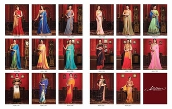 Brand - Fairy. Type - Saree. Series -301 to 317. * Set & Loose * Only Degien No 304 Not available in singel, Other all available. Please note d no 304 available in set only . * Selection available * Delivery- Running