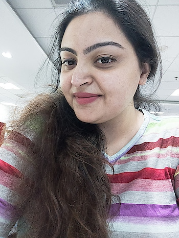 Tired eyes but a happy smile.  oh these pretty colors 😍 #roposo #summer-style #summer #summer-fashion #color-pop #rainbowcolors #rainbow #self-love #selfie #love