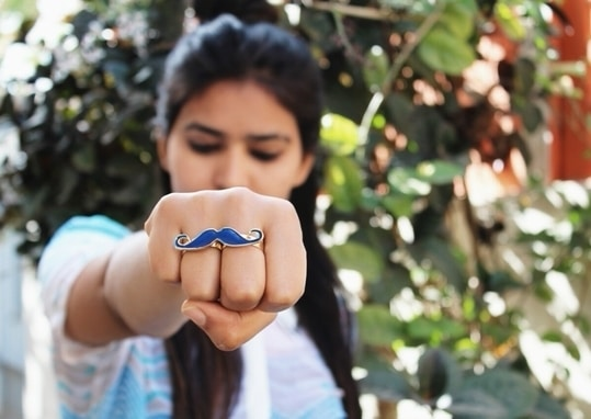 I'm in love with this adorable two finger Mustache Ring from @accesories_factory! 👳 📷:@akshyadigitaldiaries .  .  .  .  #fashionblogger #fashion #ring #mustache #trendalert #Streetstyle #jewelry #magazine #trend #instagram #instablogger #jaipurblogger #jaipurbloggers #ny #india #look #newyork #dubai #lookoftheday #look #magazine #products #accesories #igersjaipur #igers #picoftheday #ootd #outfitoftheday #portfolio #treasuremuse 💝 #roposolive #roposogal #ropo-love #roposo #roposoblogger #roposofashion #roposofood #soroposo #roposostickers