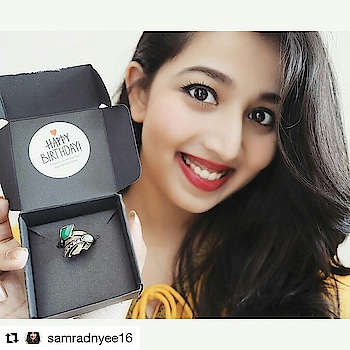 #Repost @samradnyee16 (@get_repost) ・・・ Thank you So Much 😚 @theswagworld  For Making Birthday Month so Special! 💝 . . . . . #ootd #lookbook #blogger #fashionblogger #beautyblogger #fashion #makeupjunkie #likeforlike #like4like #followforfollow #lipstick #follow4follow #styleblogger #hot #saturday #smile #pretty #beauty #instalove #mua #accessories #ring #love #jewelry #beyou #style #bohostyle