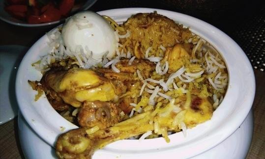 # Kolkata Chicken Biryani.