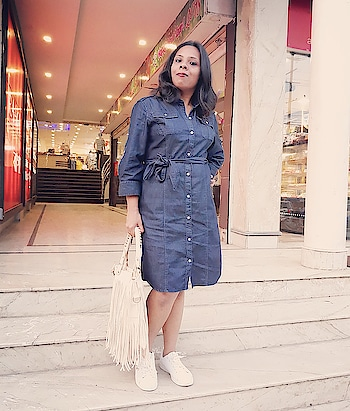 Why Denim??? because Denim is my all time fav when summer is there... . . . #fashion #blogger #fashionblogger #bloggerdiaries #roposodiaries #fashiondiaries #roposolove #roposostyle #bloggerbabe #bloggerlife #bloggerstyle #indianblogger #denimdress #shirtdress #roposoblogger #summerfashion