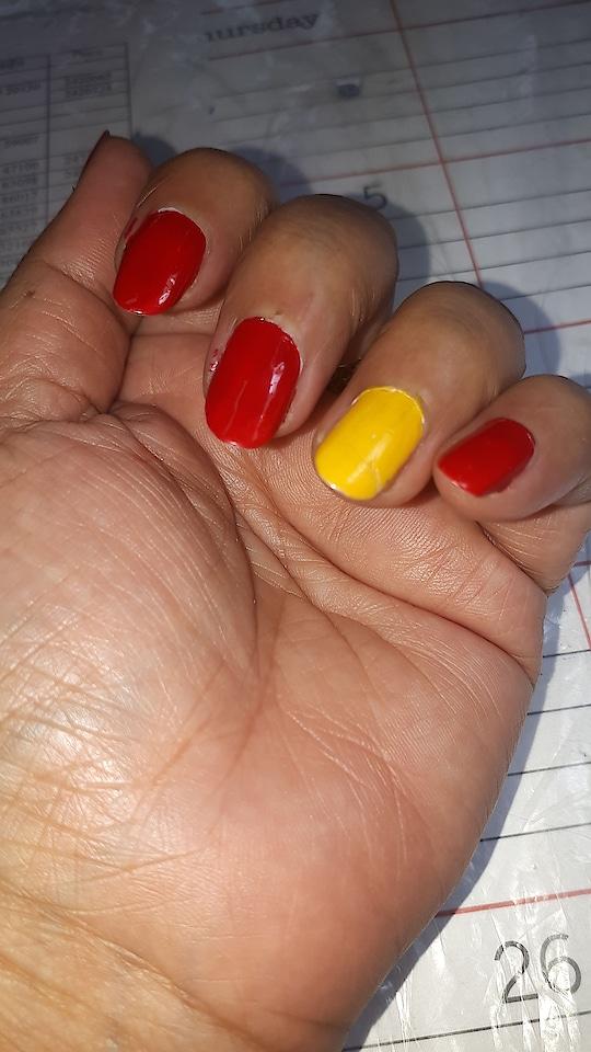 #my simple nail art