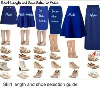 Skirt lenth and shoe selection guide.....