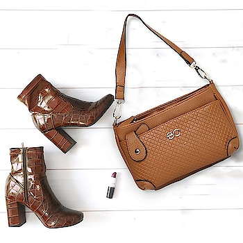 Embossed in checker print, this handbag is a perfect accessory to go with any attire! #e2ofashion