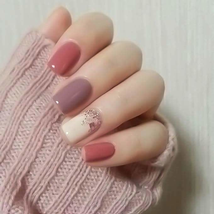 #nails #nailart #nailsoftheday #nailswag #nailswithrhinestones #winterlook #winterlove
