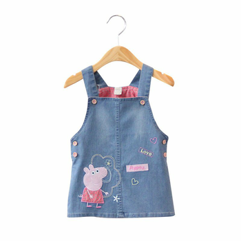 Excited to share the latest addition to my #etsy shop: Peppa Pig Denim Dungree Dress For Girls #clothing #children #dress #1stbirthday #easter #sleeveless #aline #no #peppapiggirl https://etsy.me/2W4k3i4