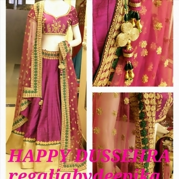 Hello everyone,time for one big celebration again.We believe everyone must be in the midth of preparation for the coming Dussehra,like all of you we had also been preparing some most desirable outfit keeping in mind of all the occasion and following up your likes and concern.Outfit which would reflect your personality at the same time graceful and unique.So we invite each of you to come and check our new collections.May this Dussehra ,light up for you and brings happiness, peace and harmony in your life.A very happy dussehra once again.Rgds.Regalia team.        #dusshera #festival #celebration #peace #love #harmony #fashion #style #new collection #sarees #suits #lehengas #cholis #regaliabydeepika@gmail.com #couture #pret #fashionable.