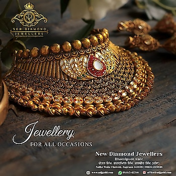 Ndj Jagraon #Certified #gold  #sophisticated #necklace #bangles #ring #jewellery  available in wide variety. You can customized your own #deaigns too. #diamondjewellery #goldjewellery #kundanjewellery #be-fashinable #bridal-jewellery    Warm regards,  Lovepreet Verma Email: lovepreet@ndjgold.com Website: www.ndjgold.com Call or whatsapp 98885-42546