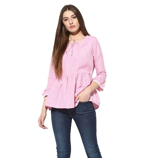 Chat to buy..  Trendy Pink Cotton Top  Color : Pink Fabric : Cotton Type : Stitched  Length: 28 inch Pattern: Striped Size : 34, 36 inch  Delivery : 6 - 8 business days Free and easy exchange/return up to 24 hours after getting delivery if any issue  Free delivery - cash on delivery also available in India  Order now by sending a message to get it..!  . Contact on WhatsApp: +91 93751 77927 Follow on :  facebook.com/ModeltyFashionStore instagram.com/ModeltyFashion  #womenswear #workwear #womensstyle #shopaholic #indianstyle #officewear #top #tops #trendytop #ss18 #womenstop #cottontop #westernwear #partywear #clothes #apparel #clothingbrand #celebrityfashion #fashionaddicted #shopnow #brandedclothes #fashionblogger #indianfashion #ahmedabad #celebritystyle #celebritylook #onlineshop  #fashion #MODELTYFASHION