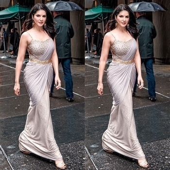#sunnyleone #gowndress