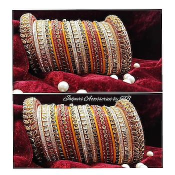 Rajwadi chooras 💞  For bookings  CALL9250236640  Text7503577614  #weddingchooda #weddingjewellery #wardrobeessentials #bridesof2018 #bridesofhyderabad #canadianbrides #punjabibrides #sambhavnaseth #preety #indianstreetfashion #pakistanijewellery #_jaipuri_jewels #ontario #california #mathapatti #hudabeauty #haldifunction #mahendi #goldplated #dubai #gujrat #_jaipuri_jewels #churiyan #wanga #bangles #chooralover
