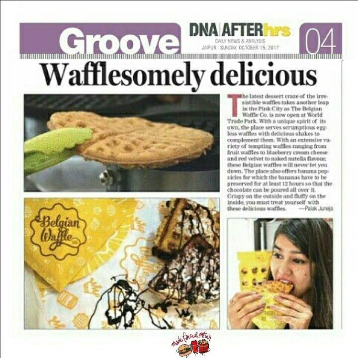 Again Featured in @dnaafterhrs !😍😍 Waffles alert!!!! Finally Jaipur have an amazing outlet of waffles which serves fine quality waffles. 🍫  Location: @thebelgianwafflesjaipur,Wtp,Jaipur. Picture credits: @shubham.awaara  Food blogger: @akshyadigitaldiaries  Love: @palakjuneja27  . . #food #foodlove #foodjourney #foodie #foodreviews #fotd #foodporn #foods #foodlover #waffles #sweet #morning #wafflelove #love #foodexpo #jaipurbloggers #jaipurblogger #paris #ny #newyork #dubai #mumbai #feature #dnaafterhrs #dna #india #foodblog #foodblogger #treasuremuse 💓 #roposo #soroposo #roposofood #roposofeature #madeforeachother