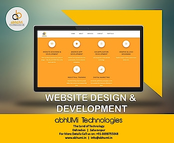 """""""Showcase your business on web now.""""  We are here to give you attractive offer for website design.  Visit us for more details Email info@abhumi.in Call now +91-8698755048  #abhumi #website #designing #technologies #technology #followforfollow #instalike #likeforlike #website #solution #bestservice #bestsolutions #outdoor #offer #attractive #development #customers #follow #like #abhumitechnologies"""