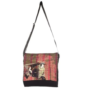 Our new range of Sling Bags...#Accessorise your casual #style statement  with this #Sling #Bag , #design is inspired from #taxis of #Shekhawati. This #quirky and #chick sling bag will surely #jazz up your #appearance. A stylish sling bag, made from high quality #canvas #fabrics with an adjustable strap and a zip closure is sure to fetch you oodles of #compliments from your #friends.  Bag is having magnetic #Closure button and a #mobile #pocket. #buyonline at our website www.fatfatiya.in Rs. 700 only