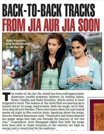 #JiaAurJia reviews on #BombayTimes 👌👌