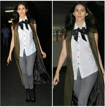 Amyra Dastur spotted wearing this jacket by- Harsh and styled by- Talukdar Bornali.