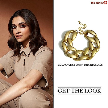 Get the Look with our Gold Chunky Chain Link Necklace à la DEEPIKA PADUKONE ✨    .https://www.theredbox.co.in/en/get-the-look-deepika-padukones-necklace-2/?v=c86ee0d9d7ed . . . #theredbox #getthelook #deepikapadukone #celebritystyle #styleicon #bollywoodfashion #bollywoodstyle #picoftheday #ootd