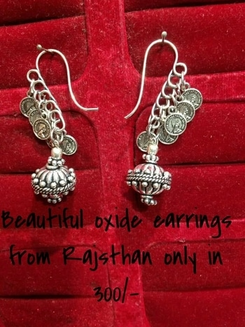 #Rajasthani #oxidised #trendy  #earrings