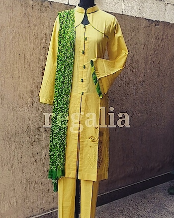 Give a fresh spin on your go-to summer wardrobe with this beautiful gorgette kurtis and pure cotton sets.Wear summery colours like yellow mellow for day outing and little embellished work for night time.Fresh designer collection available here with us for perfect summer ootd and ootn ..rgds'regalia team#fashionpost #springsummer #ootd #coolcolours #summervibes #regaliateam #fashiondesigner #fashionhouse #fashionforward #parrotgreen #instaclothing #instafashion #colourcombination #purecotton #comfortwear #machineembroidery #3pcs #croppants #crinkles #chiffondupatta #unique #whattowear #findus #facebook #instagram #wordpress #pinterest #morecollection #coming #stayupdated #bestprice #bestoutfit #bestcollection of #summerwardrobe #newdelhi #udaypark