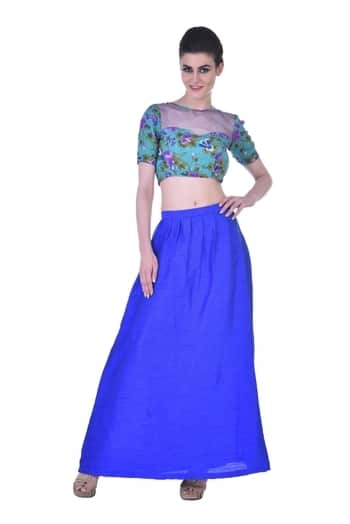 #croptoplehenga #indowestern #floralfashion #summer-style #monsoonsale #weddingsutra  #indowesternwear