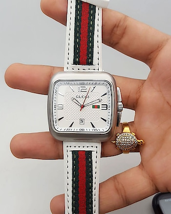 GUCCI Rare Edition with Branded STRAP  High Quality Build/ Rare Silver and White  Priced at Just Rs and 1350 and free shipping😎  Elegantly Designed  Solid Steel Back and 12hr Branded Dial  Sapphire Glass(Doesn't Fog/Scratch Proof)  DM/WhatsApp at 9036204988 for Order and queries  Ready to Dispatch ⭐⭐⭐⭐⭐ #indiashopping #indianmen #shopindia #bollywoodshopping #delhishopping #mumbaishopping #kolkatashopping #luxuryindia #indianshopper #chennaishopping #nehruplace #bangaloreshopping #goashopping #bangalore #indianshop #musicallyindia #shoppinginindia #mumbai #delhi #chennai #kolkata #shoppingdelhi #onlineshopindia #watchesindia #indianwedding #kerelaboy #hyderabadboy#kanadiga #lucknowboy #srk  RNW