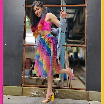 Adah Sharma celebrates the pride in transparent strap #INTOTOs 🌈 #pridemonth #tbt   #globaltrends #fashionforall #trending #womenswear #shoelove #designershoes #trendy #musthave #newcollection #whatshot #partywear #elegant #trends #INTOTOxKOOVS #brandshop #stylefile #newshoes #funky #party #celebritystyle #celebritylook