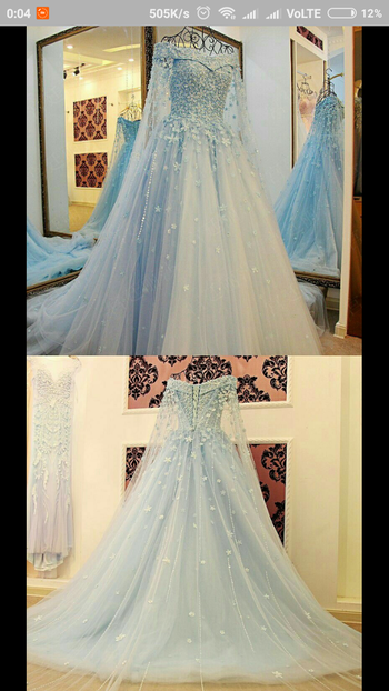 #bluegown #sparkle #gowndress #good-looking