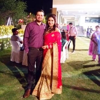 Wedding season is back 😀😀 #weddingsutra #wedding #indianwedding #saree #punjabiwedding #soroposo #roposotrends #roposogal #ethnicwear #weddingbells #weddingguestlook #pathankot