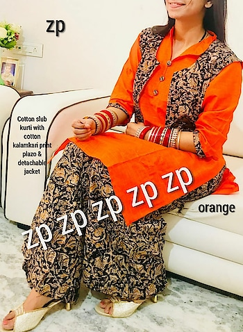 😍 ZP - A woman's Pride 😍  Cotton slub kurti with cotton kalamkari print plazo & detachable jacket. fully stitched  Singles @ lowest prices 👇🏻  xxs to Xxl  Rs 999 3xl to 5xl Rs 1059 6xl & 7xl Rs 1099  Shipping ✈ free in India  Kurti 42+length, plazo 40+ length   Place your orders now to get your outfits on time. Remember we need at least 4/5 working days to dispatch. Since we are making xxs (32) to 7xl (54) all sizes.  Beware of duplicate or copy.   Direct Message us or whatsapp on 9867764381   Follow us 👉🏻on FB:  *https://www.facebook.com/Stylista-Fashionss-2137660539847810/*  #stylistafashionss #style #fashion #trend #readysuit #dressmaterial #ethnic #western #fashionjewellery  #handbags #kurti #botttomwear #onestop #shopping #saree #readymadeblouse #lookstylish #bethefashion #shopstylistafashionss #onlineshopping #bestquality #bestprice #bestbuy #swag