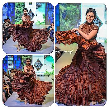 Assamese diva Pallabi Gohain Pathak looked  glorious as ever in this breathtaking dark brown Showstopper outfit. . . . . . .  #summerresort2018 #rkworld #assamese #actress #pallabi #showstopper ⭐️ #flaunt #rajankumar #rk  #darkbrown #flaredgown  #grandfinale #silken #dream #fashionweek #luxury #luxurylifestyle #islandlife #island #tales #resort #collection