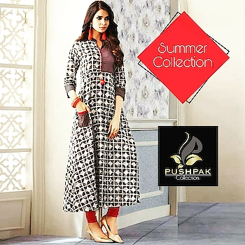 """Welcome Summer"" With Our New Collection For This Summer's  www.pushpakcollection.com  Shop Our New Arrivals.  50, Janki Nagar Main,  Near Jain Sthanak, Navlakha,  Indore (452001)  +919425052565  #SummerCollection #CottonCollection #WelcomeSummer #EthnicLook #Fashion #ElegantKurtis #EthnicWear #NewCollection #Attire #TraditionalWear #CasualWear #NewArrival #LatestCollection #CottonKurti #ALineKurti #WomensClothingStore #ladiesKurti #Kurti #Kurta #DesignerKurti #Kurtishopping #Indore #UniqueStyle #Kurtis #DesignerKurti #RoyalCollection #PushpakCollection #RedKurti #EmbroideredKurti"