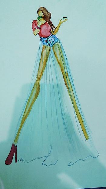 #fashioninspiration #women-fashion #fashionindia #fashionillustrator #summer-fashion