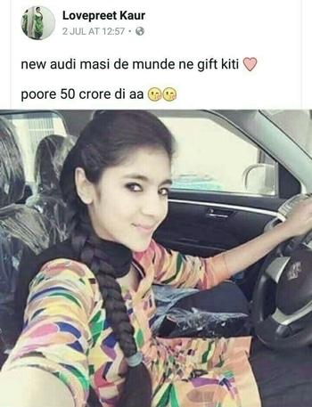 भगवान के ख़ौफ़ से डर पगली   Audi के स्टैरिंग पर Maruti Suzuki का लोगो थोड़े ही आता है !!! 😂😂😂😂😂😂😂