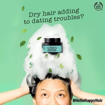 Is dry hair making it a dating nightmare? Introducing the Fuji Green Tea Hair Scrub that brings together the goodness of Japanese green tea, mint menthol, salt crystals and Community Trade honey from Ethiopia. Keep your hair lively and happy by scrubbing away impurities that dull your hair's spirit. Give your hair a boost with a green tea detox and say #HelloHappyHair today! https://www.thebodyshop.in/