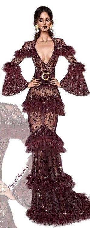 dress designer #fashion #designer-wear #gown #illustration #sketchlove #dress #drawings