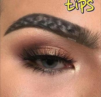 #latest #fad#braided eyebrows #fashiontips