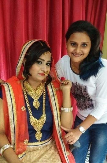 Worked on transformational bridal makeup at my salon!!!  #bridalmakeup  #makeup  #wedding  #banthanke